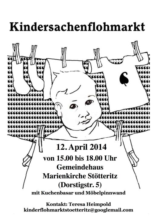 Kinderflohmarkt-Plakat April 2014