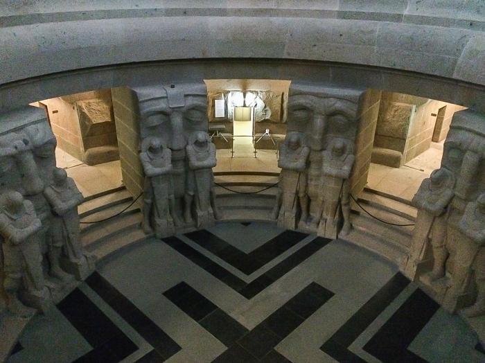 Ein Besuch im Völkerschlachtdenkmal lohnt sich auch, aufgrund solcher Eindrücke.